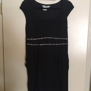 Maggy London Black Dress with a Statement Midriff!